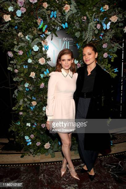 Kate Mara and Margarita Levieva attend Ovarian Cancer Research Alliance Presents Style Lab hosted by Maggie Gyllenhaal Kate Mara at Gotham Hall NYC...