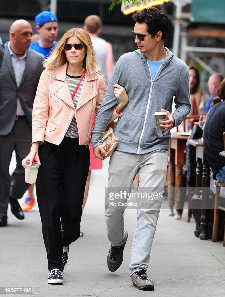 Kate Mara and Max Minghella are seen in the East Village on June 4 2014 in New York City