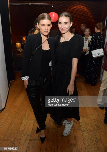 Kate Mara and Rooney Mara attend the release party to celebrate Rain Phoenix's new album RIVER hosted by Joaquin Phoenix at Jim Henson Studios on...