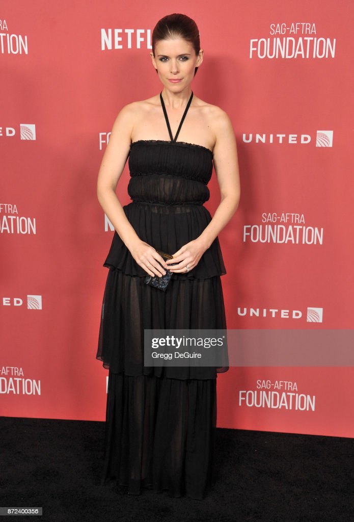 Kate Mara arrives at the SAG-AFTRA Foundation Patron of the Artists Awards 2017 on November 9, 2017 in Beverly Hills, California.