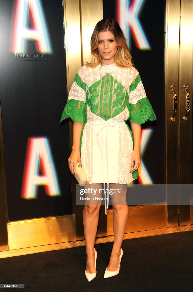 Kate Mara attends Saks Fifth Avenue Celebrates New York Fashion Week at Saks Fifth Avenue on September 8, 2017 in New York City.