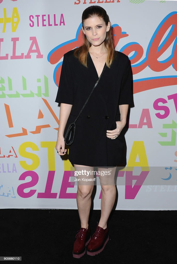 Kate Mara attends Stella McCartney's Autumn 2018 Collection Launch on January 16, 2018 in Los Angeles, California.