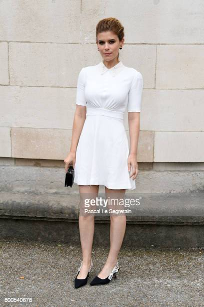 Kate Mara attends the Dior Homme Menswear Spring/Summer 2018 show as part of Paris Fashion Week on June 24 2017 in Paris France