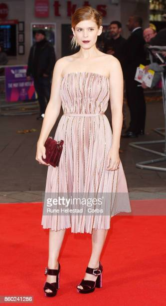 Kate Mara attends the European Premiere of 'Film Stars Don't Die In Liverpool ' at Odeon Leicester Square during the 61st BFI London Film Festival on...