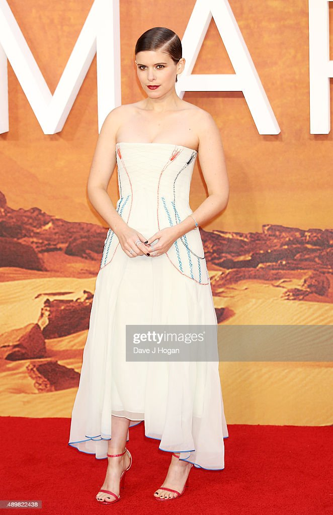 Kate Mara attends the European premiere of 'The Martian' at Odeon Leicester Square on September 24, 2015 in London, England.