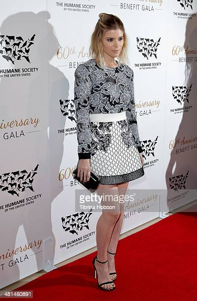 Kate Mara attends the Humane Society's 60th anniversary benefit gala at the Beverly Hilton Hotel on March 29, 2014 in Beverly Hills, California.