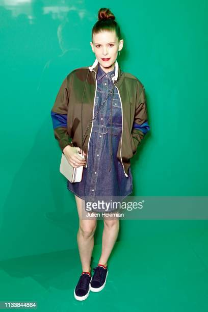 Kate Mara attends the Lacoste show as part of the Paris Fashion Week Womenswear Fall/Winter 2019/2020 on March 05 2019 in Paris France