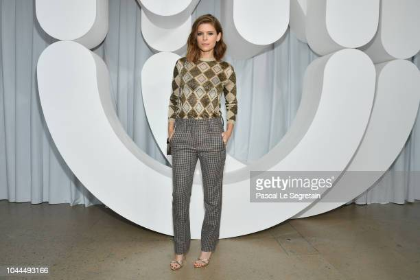 Kate Mara attends the Miu Miu show as part of the Paris Fashion Week Womenswear Spring/Summer 2019 on October 2, 2018 in Paris, France.