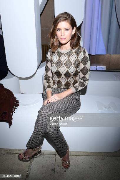 Kate Mara attends the Miu Miu show as part of the Paris Fashion Week Womenswear Spring/Summer 2019 on October 2 2018 in Paris France