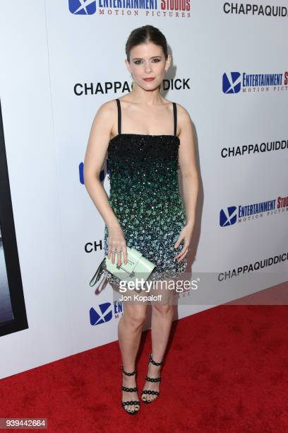 Kate Mara attends the premiere of Entertainment Studios Motion Picture's 'Chappaquiddick' at Samuel Goldwyn Theater on March 28 2018 in Beverly Hills...