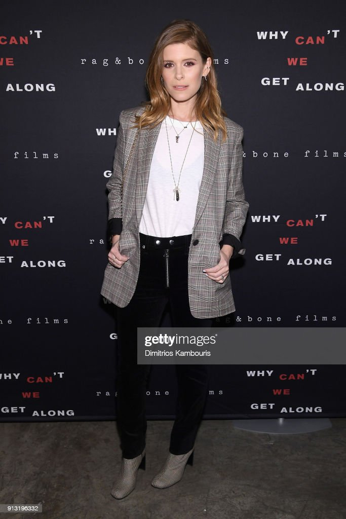 Kate Mara attends wearing rag & bone at the New York premiere of 'Why Can't We Get Along' on February 1, 2018 in New York City.