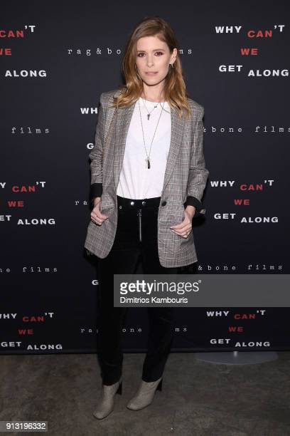 Kate Mara attends wearing rag bone at the New York premiere of Why Can't We Get Along on February 1 2018 in New York City
