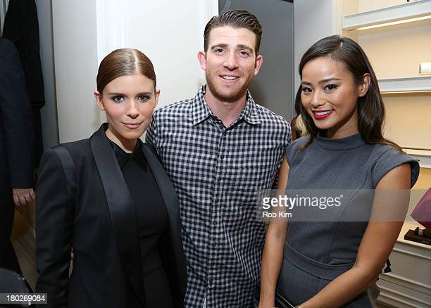 Kate Mara Bryan Greenberg and Jamie Chung attend Badgley Mischka NYC Store Opening on September 10 2013 in New York City