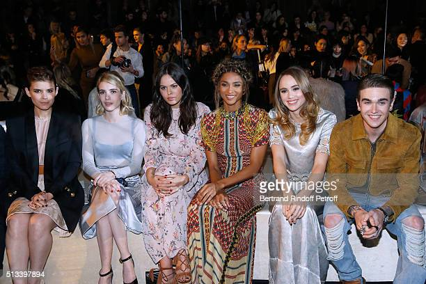 Kate Mara Emma Roberts Atlanta de Cadenet Taylor Ciara Suki Waterhouse and GabrielKane DayLewis attend the HM Studio show as part of the Paris...