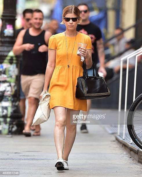 Kate Mara is seen in Soho on August 8 2014 in New York City