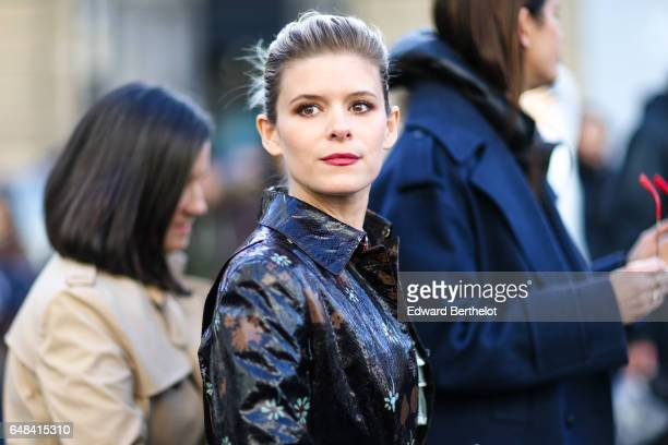 Kate Mara is seen outside the Valentino show during Paris Fashion Week Womenswear Fall/Winter 2017/2018 on March 5 2017 in Paris France