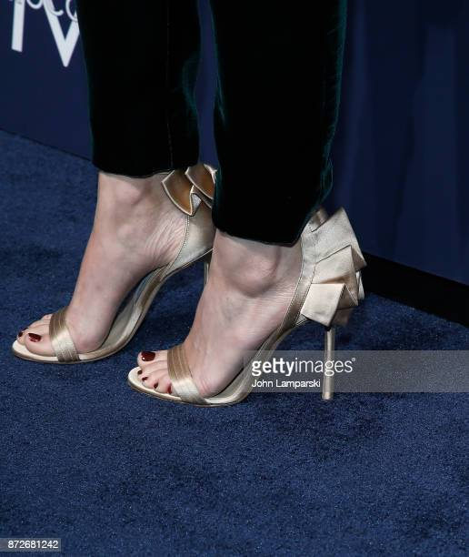 Kate Mara shoe detail attends 2017 Humane Society of The United States to the Rescue New York Gala at Cipriani 42nd Street on November 10 2017 in New...