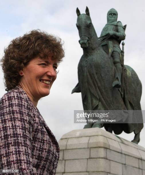 Kate Mavor chief executive of the National Trust for Scotland at the statue of Robert the Bruce at Bannockburn Heritage Centre in Stirling where...