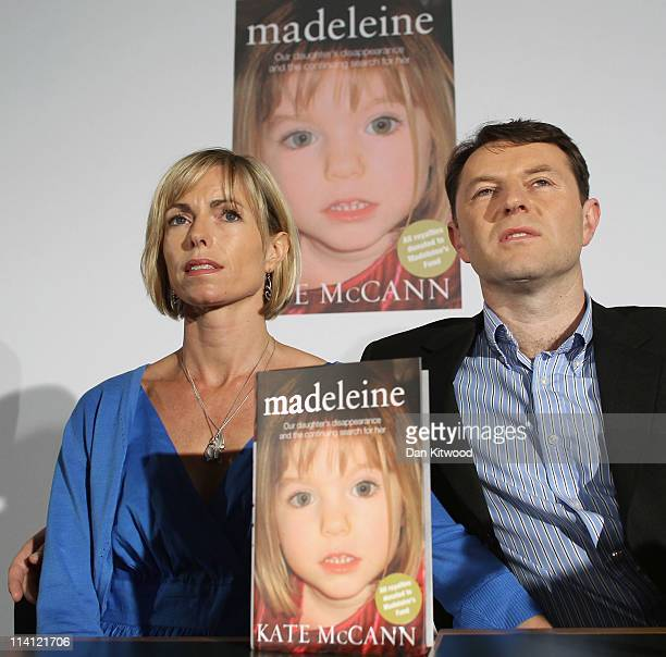 Kate McCann and Gerry McCann launch Kate McCann's new book' 'Madeleine' and answer questions from the press at the Queen Elizabeth II centre on May...