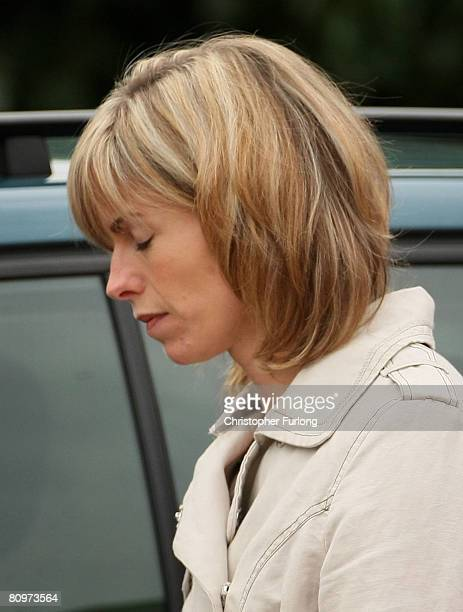 Kate McCann arrives with her husband Gerry at the Church of St Mary and St John in their Leicestershire home town of Rothley for a prayer service to...