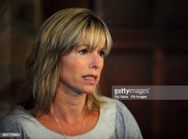 Kate McCann gives a statement at the Rothley Court Hotel in Rothley Leicestershire after she and her husband were formally cleared by the Portuguese...