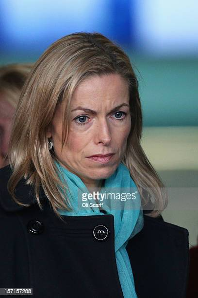 Kate McCann joins members of the 'Hacked Off' campaign group to address the media outside the Queen Elizabeth II conference centre following the...