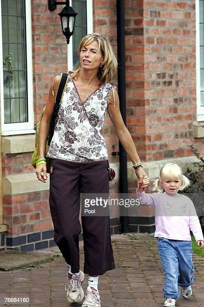 Kate McCann leaves her home today to take their children Amelie and Sean to a local play park on September 12 2007 in Rothley England Portugal's...