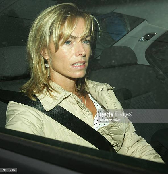 Kate McCann leaves her home with her husband Gerry McCann on September 14 2007 in Leicester England The family returned from Portugal on September 9...