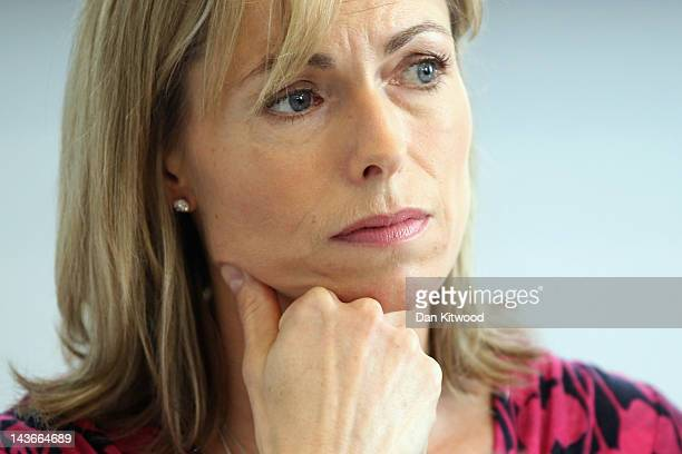 Kate McCann listens during a news conference to mark the 5th anniversary of the disappearance of her daughter Madeleine McCann on May 2 2012 in...
