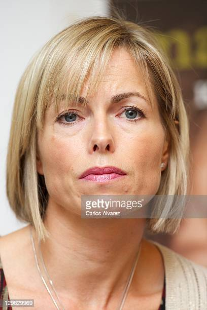 Kate McCann listens during the launch of her book 'Madeleine' at the Wellington Hotel on October 19 2011 in Madrid Spain Kate and Gerry McCann's...