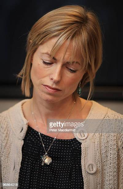 Kate McCann looks down as she speaks to reporters on February 19 2010 in London Yesterday the McCann's won a legal battle to stop the publication of...