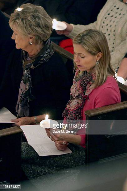 Kate McCann mother of Madeleine McCann attends the Missing People Carol Service at StMartinInTheFields Trafalgar Square on December 10 2012 in London...