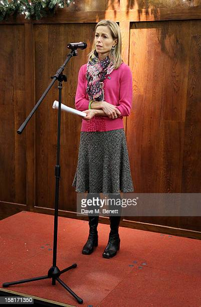 Kate McCann mother of Madeleine McCann speaks at the Missing People Carol Service at StMartinInTheFields Trafalgar Square on December 10 2012 in...