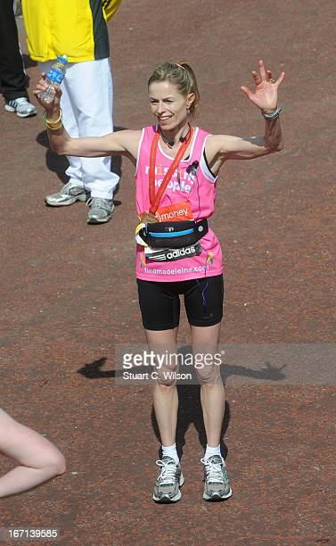 Six Years on the Run:  The Virgin Marathon Kate-mccann-poses-at-the-finish-line-at-the-2013-virgin-london-m-on-picture-id167139585?s=612x612