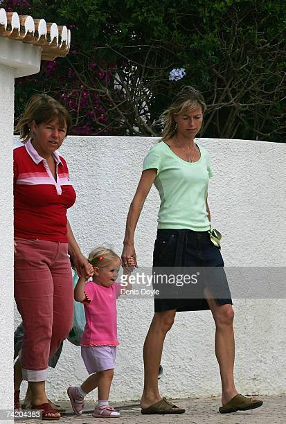Kate McCann the mother of missing girl Madeleine drops off her daughter Amelie at the Ocean Club holiday resort on May 21 2007 in Praia da Luz...
