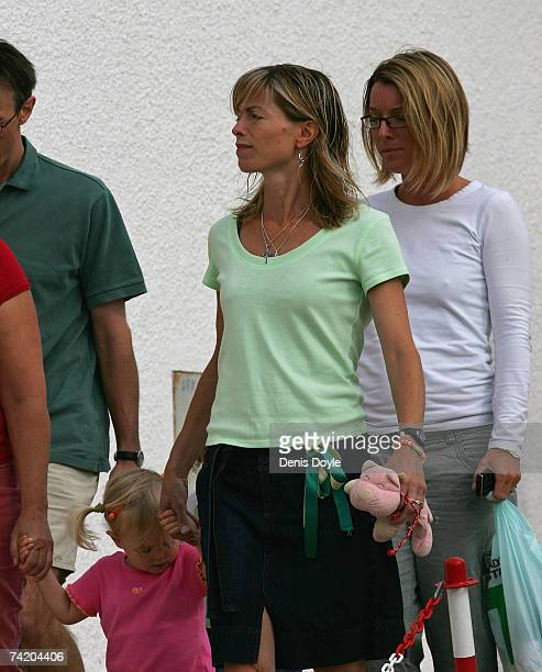 Kate McCann the mother of missing girl Madeleine drops off her daughter Amelie at the Ocean Club holiday resort with an unidentified woman on May 21...