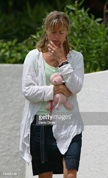 Kate McCann the mother of missing girl Madeleine McCann walks to the Ocean Club holiday resort to collect her children on May 21 2007 in Praia da Luz...
