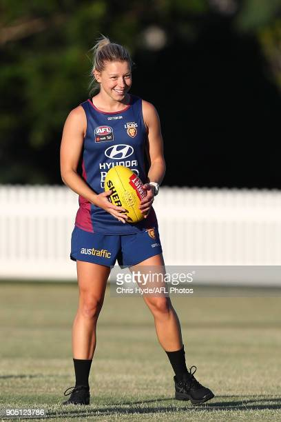 Kate McCarthy looks on during a Brisbane Lions AFL training session at Leyshon Park on January 15 2018 in Brisbane Australia