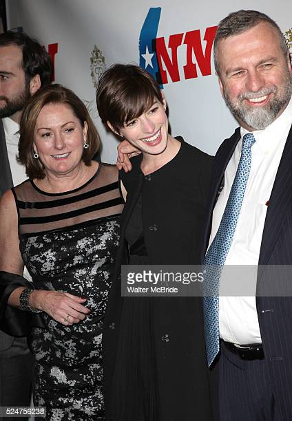 Kate McCauley Hathaway Anne Hathaway Gerald Hathaway attending the Opening Night Performance of 'Ann' starring Holland Taylor at the Vivian Beaumont...