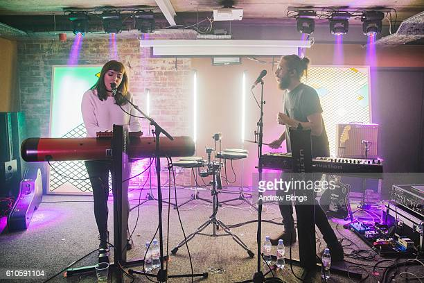 Kate McGill and Daniel Broadley of Meadowlark perform at Headrow House on September 26, 2016 in Leeds, England.
