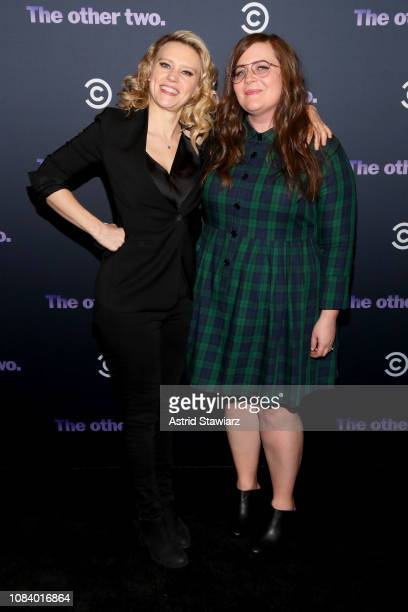 Kate McKinnon and Aidy Bryant attend Comedy Central's 'The Other Two' series premiere party at Dream Hotel Downtown on January 17 2019 in New York...
