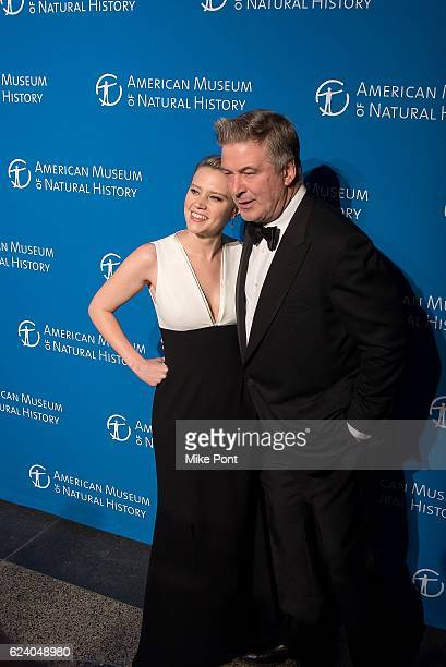 Kate McKinnon and Alec Baldwin attend the 2016 American Museum Of Natural History Museum Gala at American Museum of Natural History on November 17...