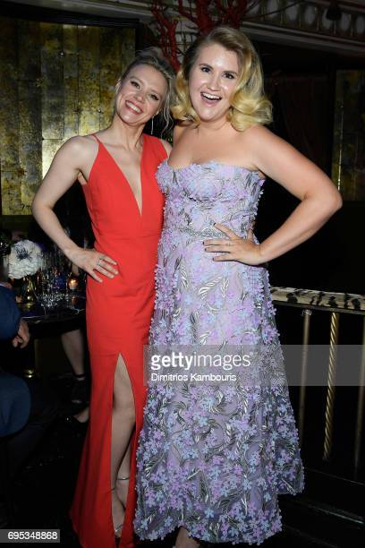 Kate McKinnon and Jillian Bell attend the after party for the Rough Night Premiere at Diamond Horseshoe on June 12 2017 in New York City