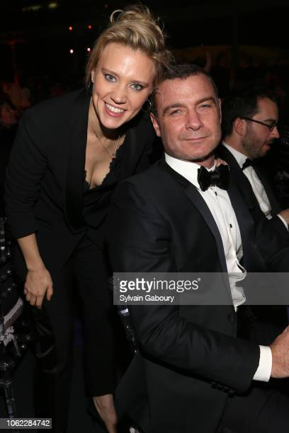 Kate McKinnon and Liev Schreiber attend American Museum Of Natural History's 2018 Museum Gala at American Museum of Natural History on November 15...