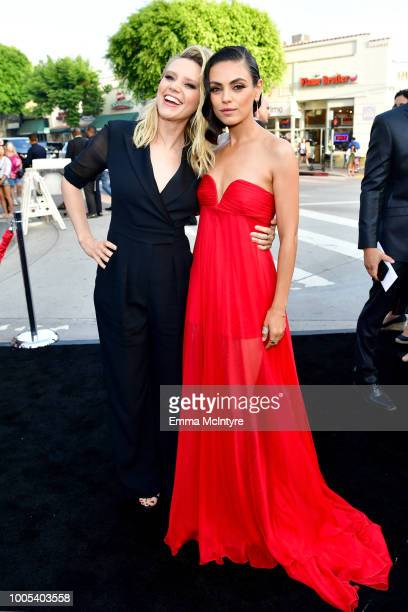 Kate McKinnon and Mila Kunis attend the premiere of Lionsgate's 'The Spy Who Dumped Me' at Fox Village Theater on July 25 2018 in Los Angeles...
