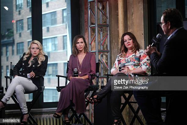 "Kate McKinnon, Kristen Wiig, Melissa McCarthy and Steve Higgins attend AOL Build Speaker Series: ""Ghostbusters"" at AOL HQ on July 12, 2016 in New..."