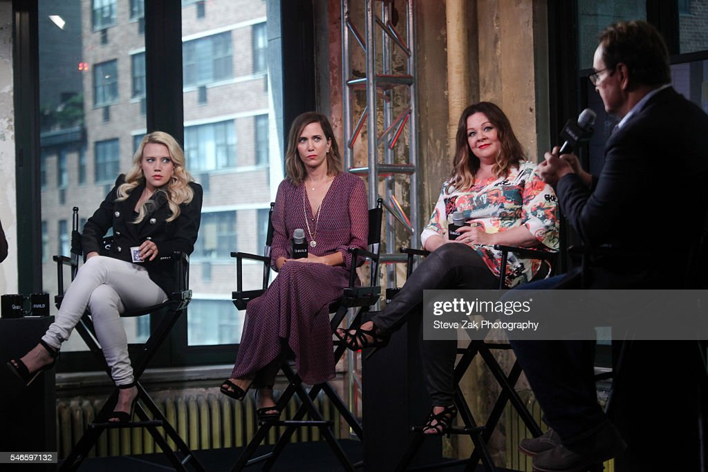 Kate McKinnon, Kristen Wiig, Melissa McCarthy and Steve Higgins attend AOL Build Speaker Series: 'Ghostbusters' at AOL HQ on July 12, 2016 in New York City.