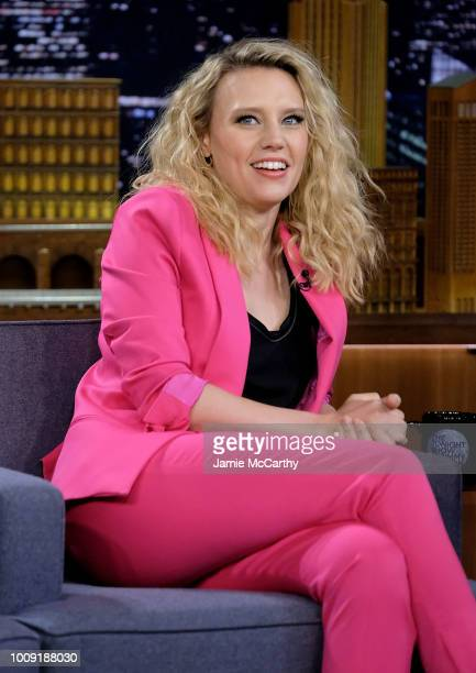 Kate McKinnon visits The Tonight Show Starring Jimmy Fallon at Rockefeller Center on August 1 2018 in New York City