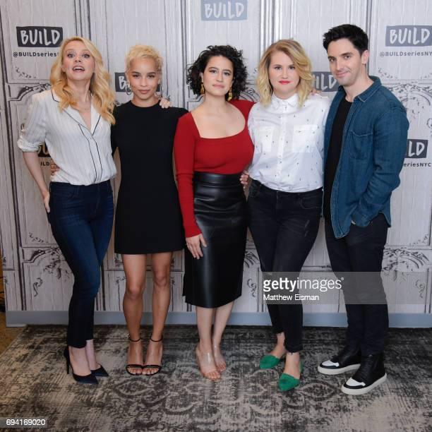 Kate McKinnon, Zoe Kravitz, Ilana Glazer, Jillian Bell and Paul W. Downs discuss the new film 'Rough Night' at Build Studio on June 9, 2017 in New...