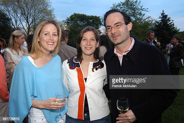 Kate Meckler, Eleanor Prauge and Rodney Prauge attend Reed and Delphine Krakoff host cocktails to kick off the Parrish Art Museum Midsummer Gala...